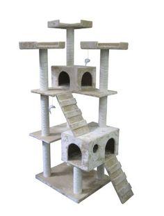 """Beige 73"""" Cat Tree Pet House by BestPet, http://www.amazon.com/dp/B0033Q5IIW/ref=cm_sw_r_pi_dp_2nG1qb1NW5FVX"""
