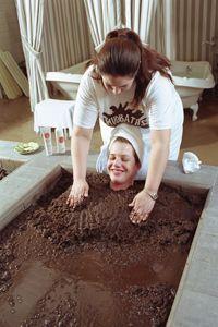 Massages (in baths full of therapeutic, rejuvenating mud) | #TreatYoSelf #ParksandRec