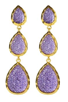 Amrita Singh East Hampton Star Earrings In Lavender