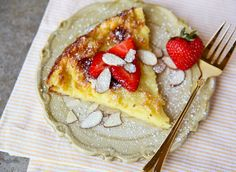 "Love pancakes for breakfast?  Why not try an easy ""oven pancake!"""