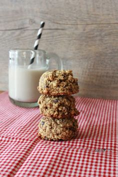 Oatmeal Flax Cocoa Nib Cookies