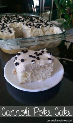 Cannoli Poke Cake on MyRecipeMagic.com
