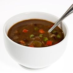 Hearty Vegetable Bean Soup: With veggies rich in vitamin C, beta-carotene, quercetin, and lycopene, this soup packs a lot of nutrition in just one serving — and I promise you will not be disappointed with the taste.