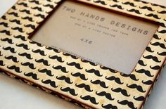 4x6 Mustache Picture Frame