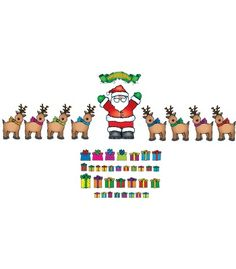 Santa 'n Reindeer Bulletin Board Set - Carson Dellosa Publishing Education Supplies