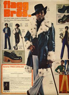 Pimp style for Men in the 1970s
