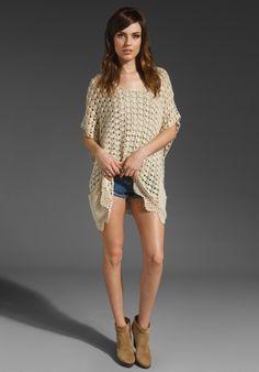 Crochetemoda: Túnica de Crochet Bege