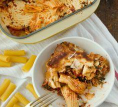 """Slow Cooker #Recipe: Cheesy """"Baked"""" Spinach & Mozzarella Rigatoni"""