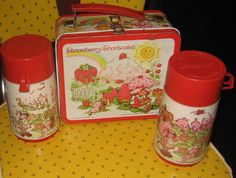 1980S Favorite Foods | retro 1980s STRAWBERRY SHORTCAKE LUNCHBOX by staircasetotheattic