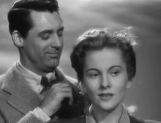"""Lina McLaidlaw (Joan Fontaine) to Johnny Aysgarth (Cary Grant): """"I must go now or I'll be late to luncheon. Anyway, if my father saw me come in both late and beautiful, he might have a stroke."""" -- from Suspicion (1941) directed by Alfred Hitchcock"""