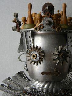 """The Queen of Things Discarded & Forgotten""  -Art Assemblage (Close up) by Jen Hardwick jen-hardwick.com"