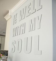 It Is Well With My Soul Canvas Phrase by 163DesignCompany on Etsy