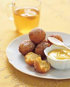 Lemon-Ricotta Fritters with Lemon Curd Recipe