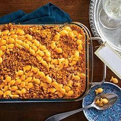 Cheese Cracker-Topped Squash Casserole | MyRecipes.com