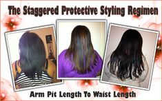 The Staggered Protective Styling Regimen – Grow Your Hair Long The Easy Way http://www.blackhairinformation.com/beginners/finding_a_regimen/the-staggered-protective-styling-regimen-grow-your-hair-long-the-easy-way/  #naturalhair #naturalhairrocks
