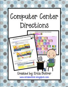 Classroom Freebies: Computer Center Visual Directions
