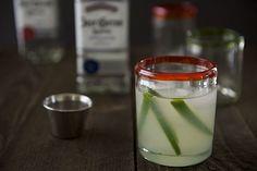 Fresh Lime & Jalapeno Margaritas