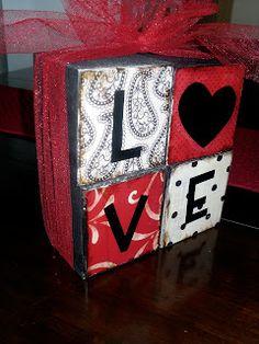 Six Sisters' Stuff: Valentine's LOVE Blocks