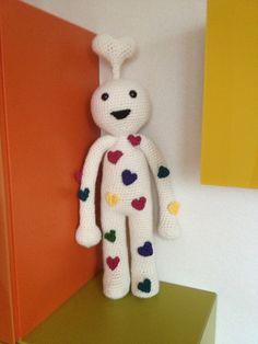 Valentine, the huggable monster free crochet pattern by Teresa Alvarez
