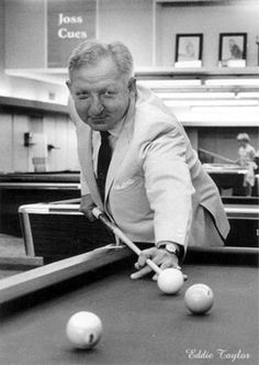 Widely acclaimed as the premier Bank Pool player of all time, many consider Eddie Taylor one of the very best One Pocket players of all time as well. And before his eyesight began to fail him, Eddie was right there in 9-Ball, too.
