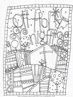 Oh, Holy Night coloring page from Homegrown Hospitality
