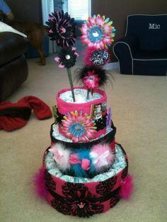 Bow diaper cake!