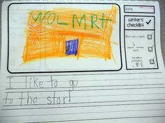 kindergarten writing paper with check list!