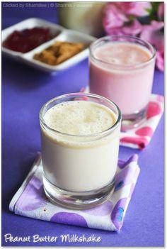 Jam Milkshake and Peanut Butter Milkshake