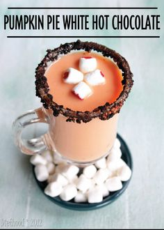 Taste the flavors of fall in this delicious Pumpkin Pie White Hot Chocolate drink recipe! PIN FOR LATER!