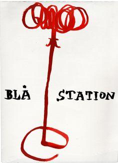 Illustrated drawing of Visp. Design by Staffan Holm 2011 for Blå Station.