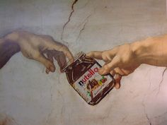 the creation of Nutella . . .    (thanks Jonathan Bradstreet and Michelangelo)