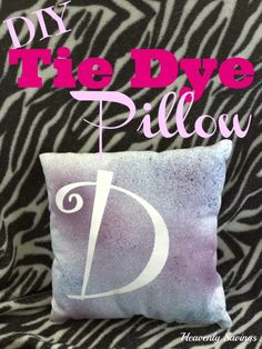 DIY Tie Dye Pillow