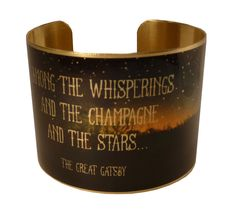 The Great Gatsby Quote Bracelet F Scott Fitzgerald by accessoreads