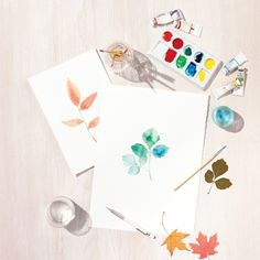 Favorite Fall Craft: Watercolor Leaves