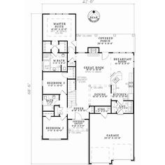 Patio lot size English Country Style House Plans - 1875 Square Foot Home , 2 Story, 4 Bedroom and 3 Bath, 2 Garage Stalls by Monster House Plans - Plan 12-836