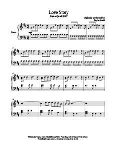 Love Story - Taylor Swift - pianobragsongs.com