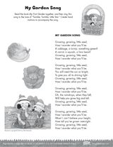 """""""My Garden Song""""   Sing this song to the tune of """"Twinkle, Twinkle, Little Star"""" to teach young children about plants and gardening."""