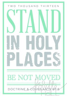 Stand In Holy Places Poster