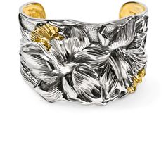 American Estate Jewelry's latest sterling and gold cuff hand-created by Michael Galmer.  We all need one work of art for our elegant forearms...a cuff is it.