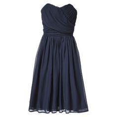 TEVOLIO™ Women's Chiffon Strapless Pleated Dress - Fashion Colors