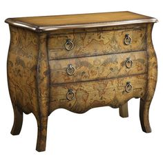 Antique-Style Map Chest.