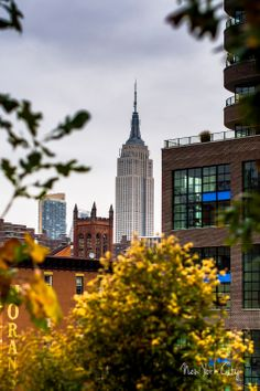 The Empire State Building as Viewed from the Highline, New York City- From the world of Marc Weisberg Architectural | Real Estate Interior photography.