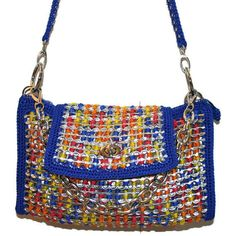 pop tab crochet purse