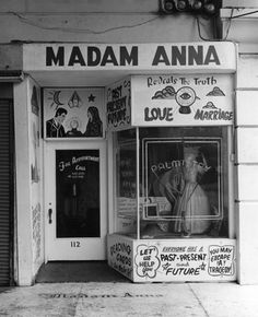 Window front of Madam Anna's at The Pike, Long Beach, California, 1973. Photo by William Reagh.