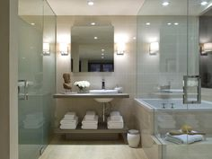 Love the wet room idea -- tub and shower behind glass