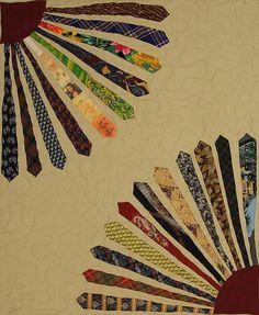 tie quilting, ties, quilts
