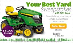 Your Best Yard Sweepstakes   (Ends May 31, 2014.)