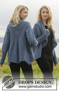 LOVE this crocheted jacket! Pattern is free from DROPS Design.