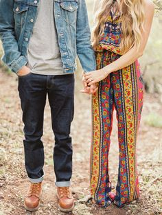 hippie meets indie, photo by Danielle Poff http://ruffledblog.com/san-luis-obispo-shoot-turned-proposal #style #engagementsession