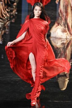 Red gown by Elie Saab Couture Fall 2010